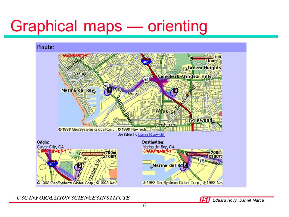 Graphical maps — orienting