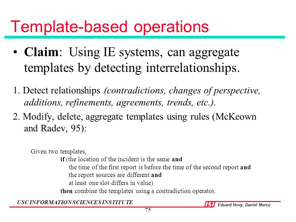 Template-based operations