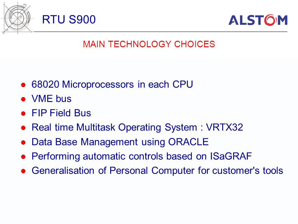 MAIN TECHNOLOGY CHOICES