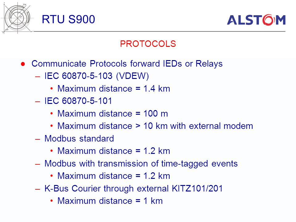 RTU S900 PROTOCOLS Communicate Protocols forward IEDs or Relays