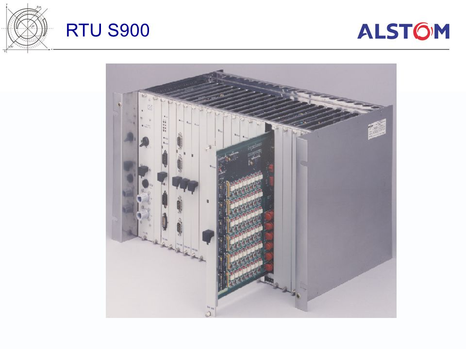 RTU S900 S900 view. All the module are plugged by the front of the rack.