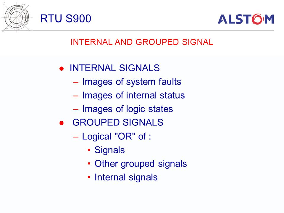 INTERNAL AND GROUPED SIGNAL