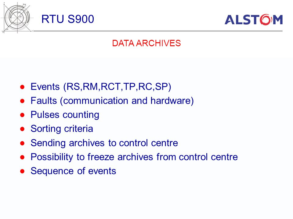 RTU S900 Events (RS,RM,RCT,TP,RC,SP)