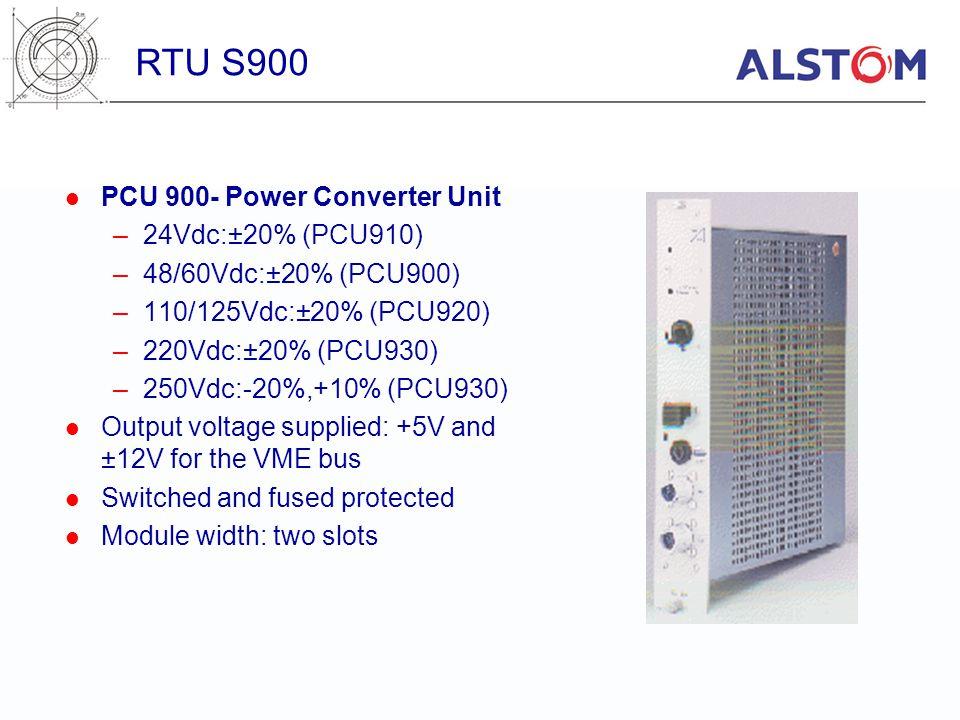 RTU S900 PCU 900- Power Converter Unit 24Vdc:±20% (PCU910)