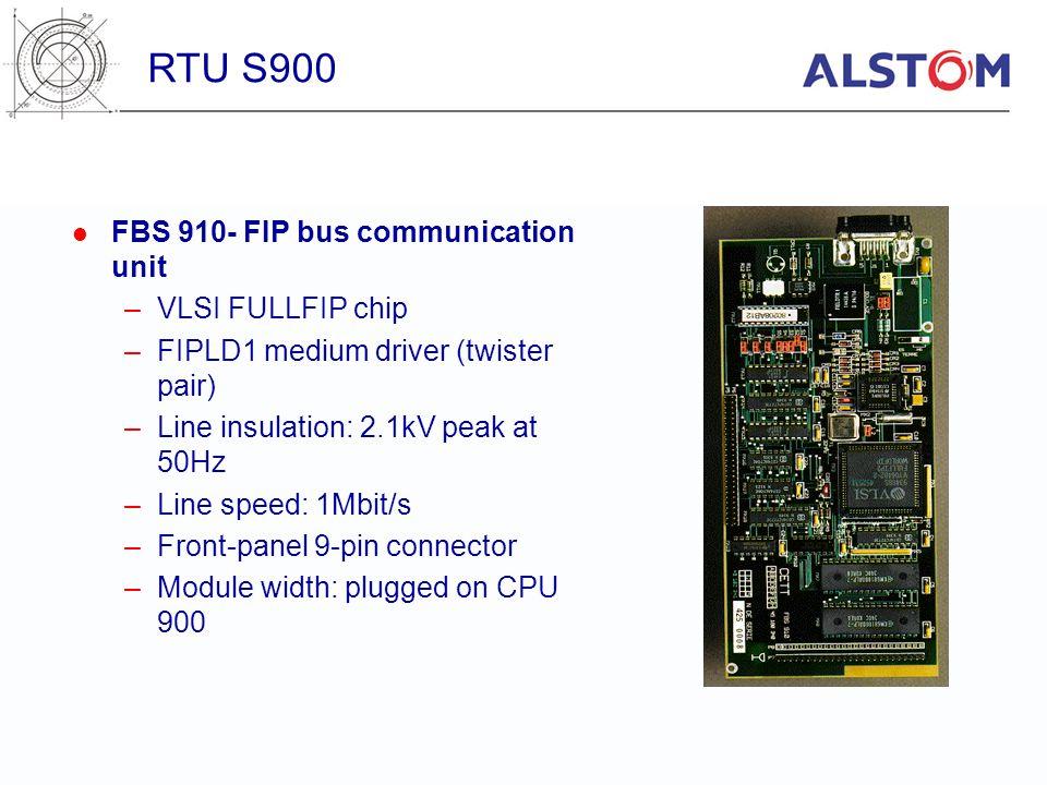 RTU S900 FBS 910- FIP bus communication unit VLSI FULLFIP chip