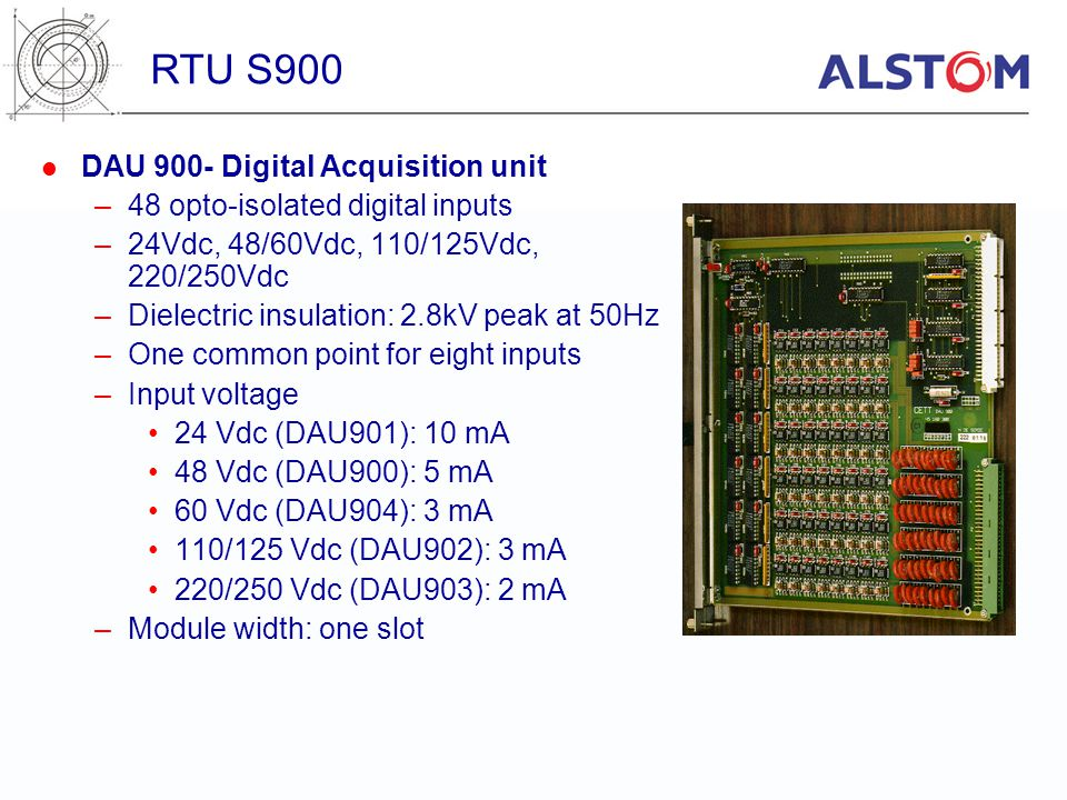 RTU S900 DAU 900- Digital Acquisition unit
