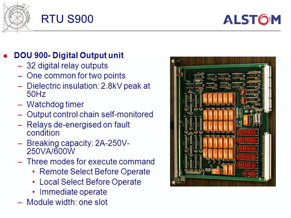 RTU S900 DOU 900- Digital Output unit 32 digital relay outputs