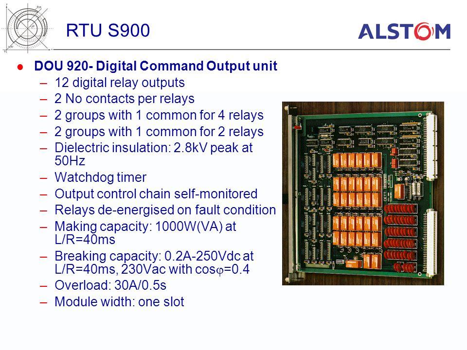 RTU S900 DOU 920- Digital Command Output unit 12 digital relay outputs