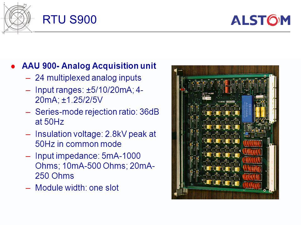 RTU S900 AAU 900- Analog Acquisition unit 24 multiplexed analog inputs