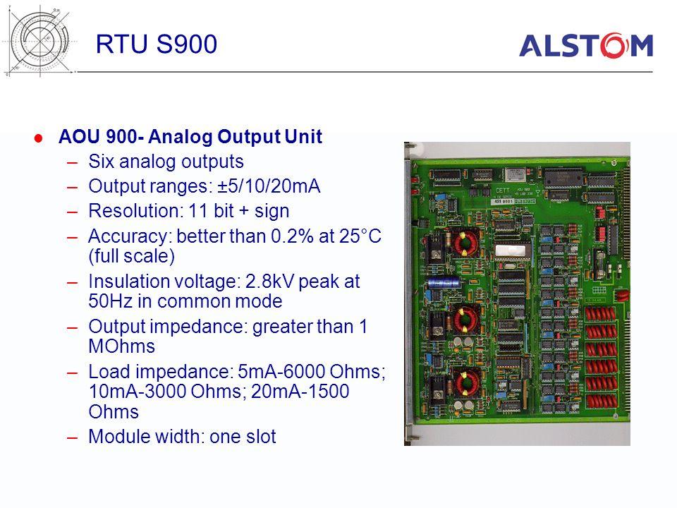 RTU S900 AOU 900- Analog Output Unit Six analog outputs