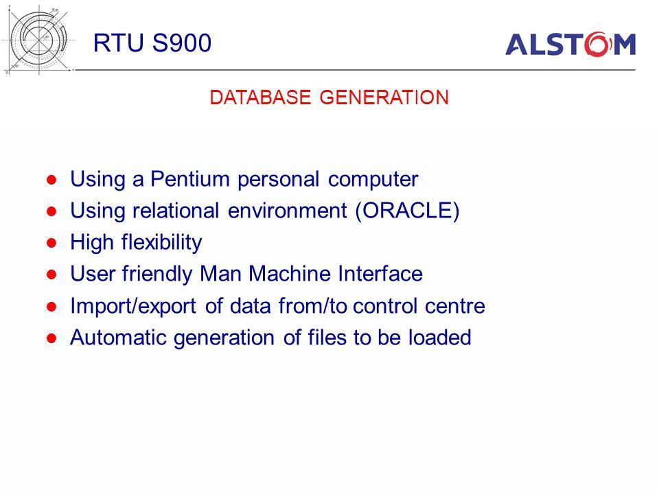 RTU S900 Using a Pentium personal computer
