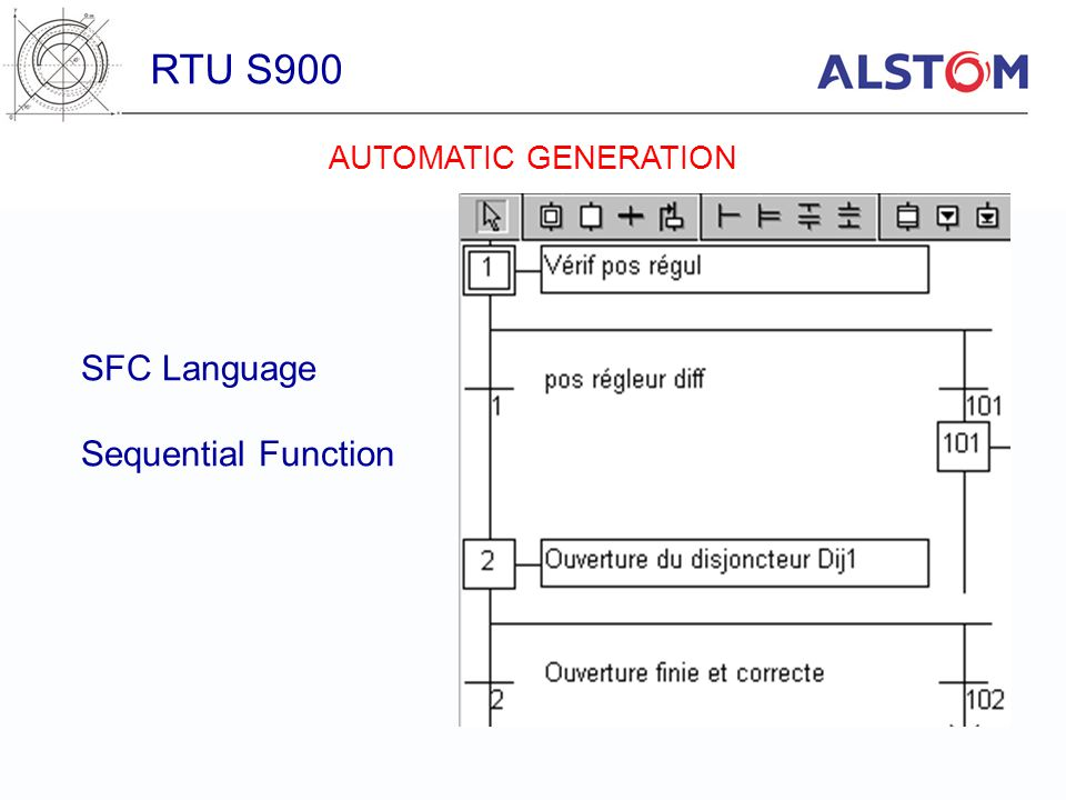 RTU S900 SFC Language Sequential Function AUTOMATIC GENERATION