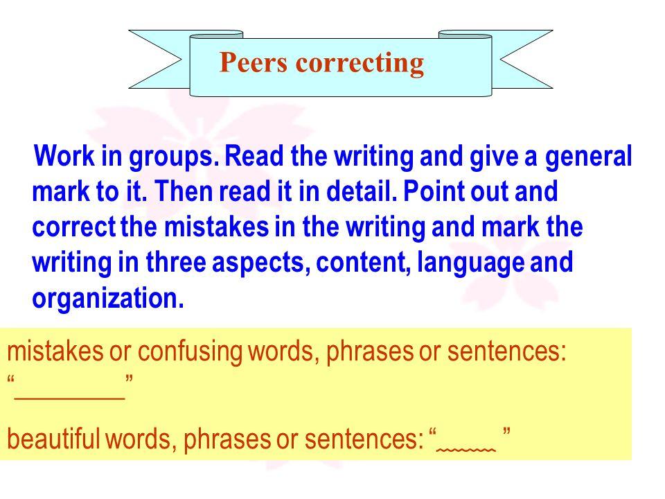 Peers correcting