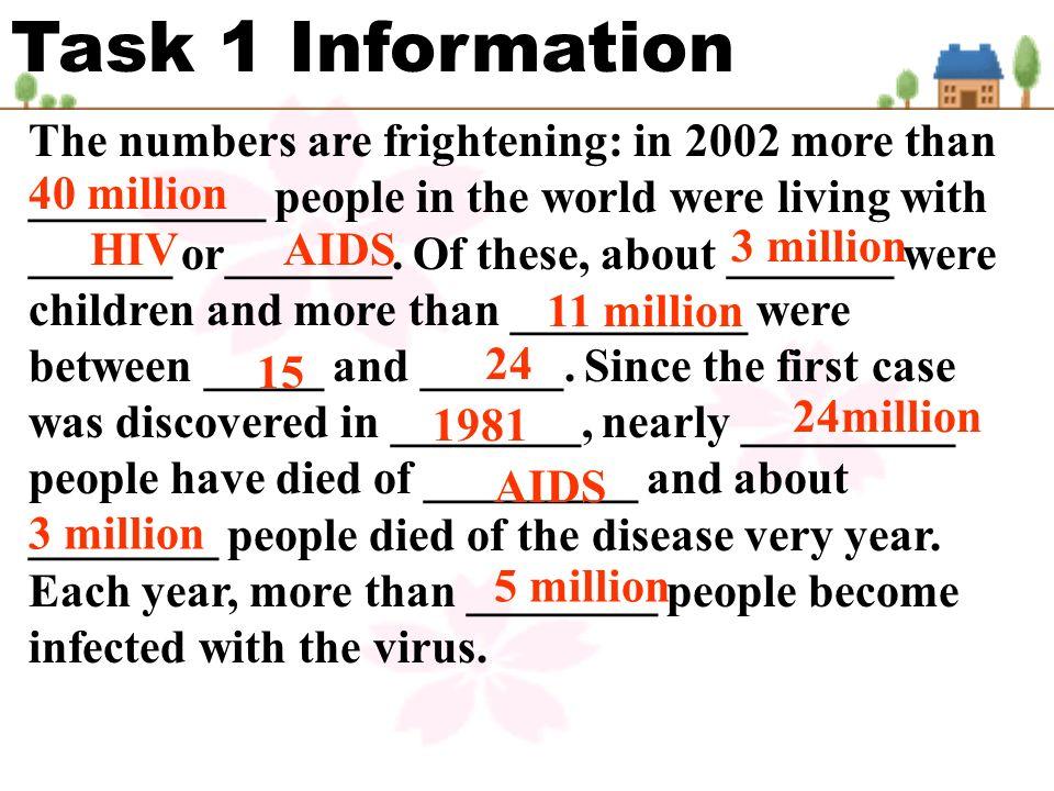 Task 1 Information