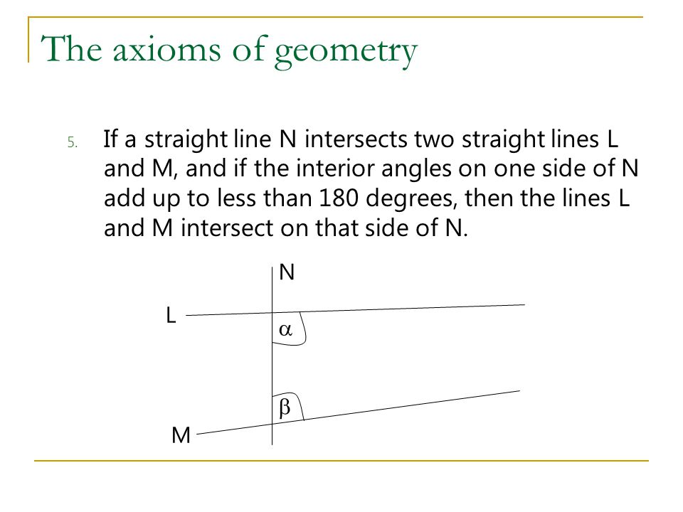 The axioms of geometry