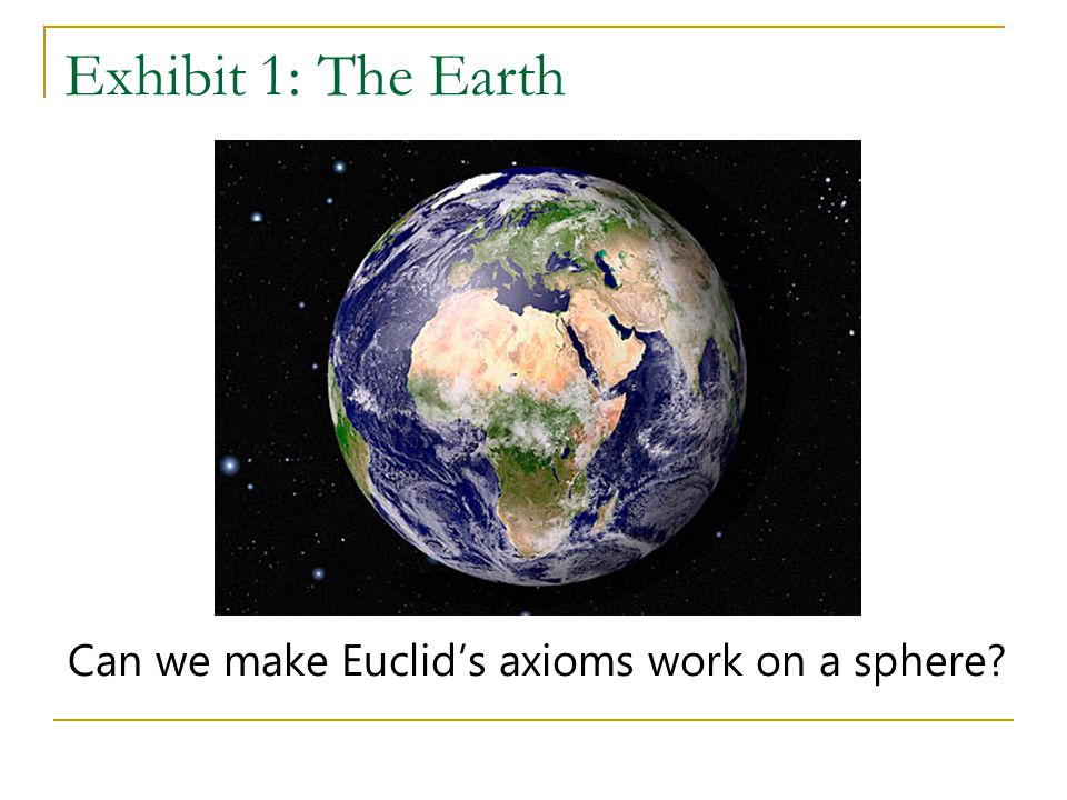 Can we make Euclid's axioms work on a sphere