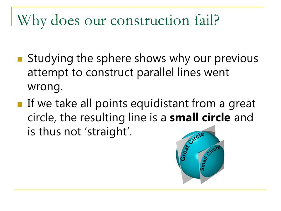 Why does our construction fail