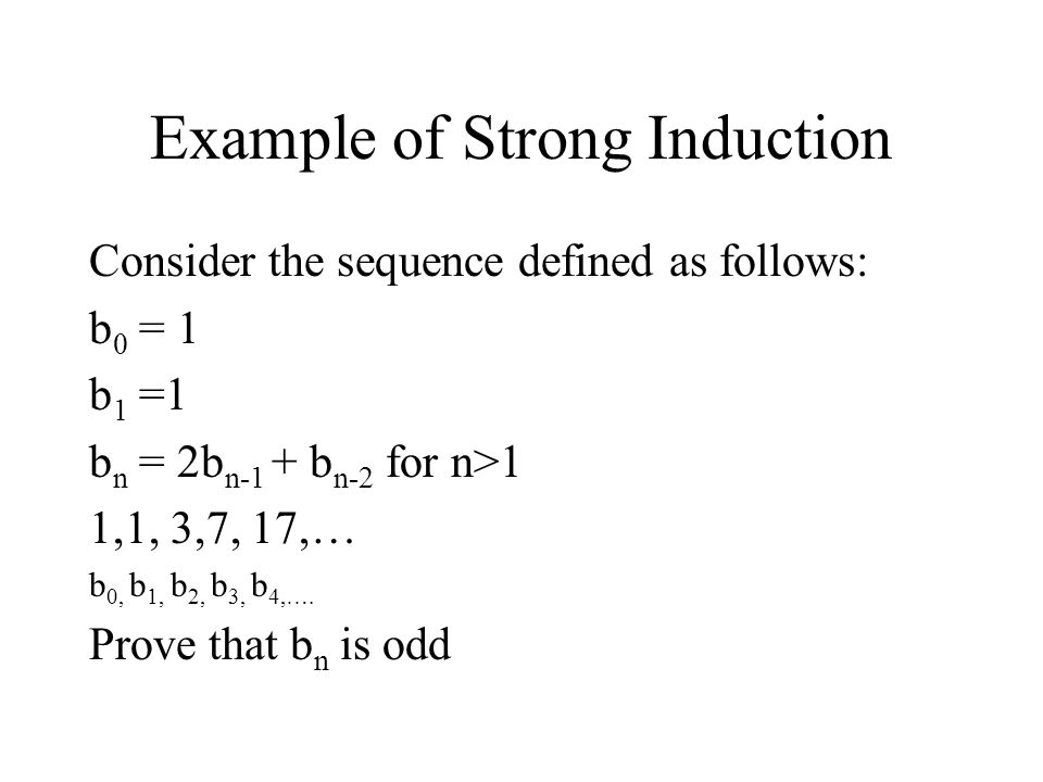 Example of Strong Induction