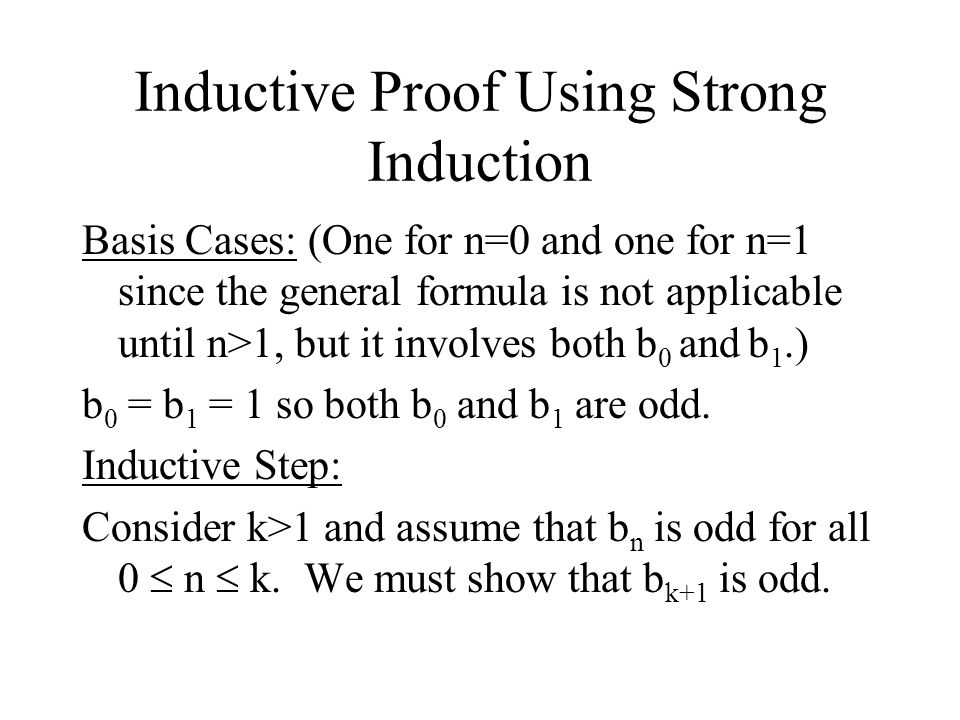 Inductive Proof Using Strong Induction