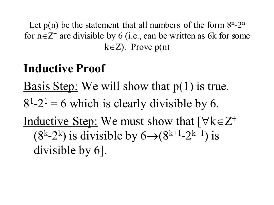 Basis Step: We will show that p(1) is true.