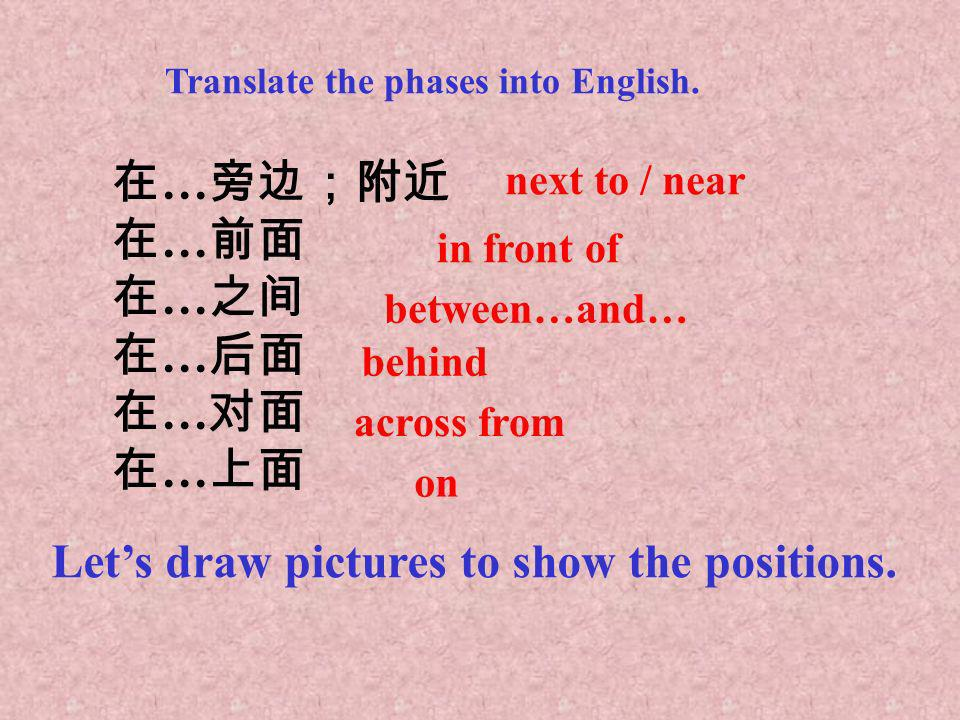 Let's draw pictures to show the positions.