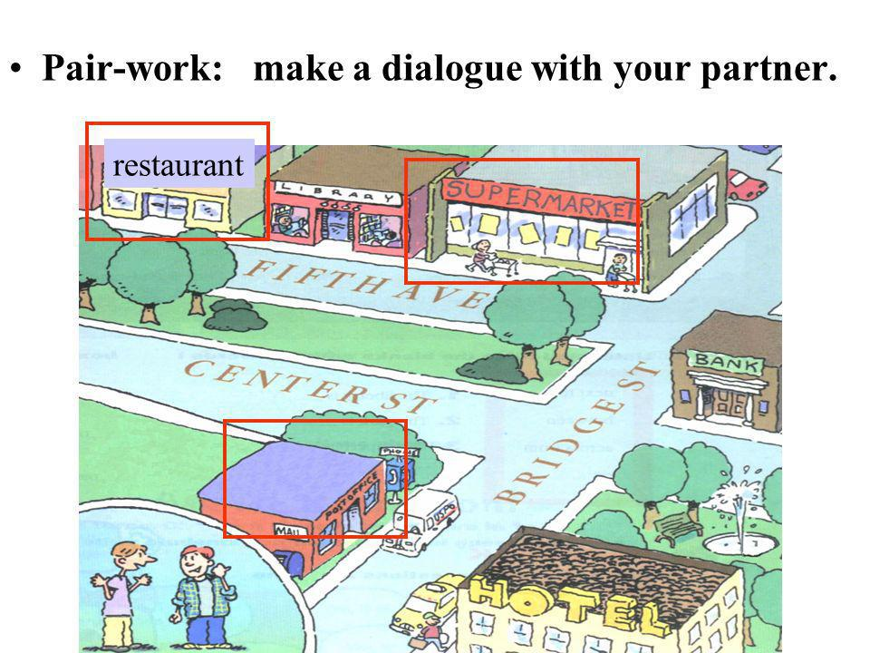 Pair-work: make a dialogue with your partner.