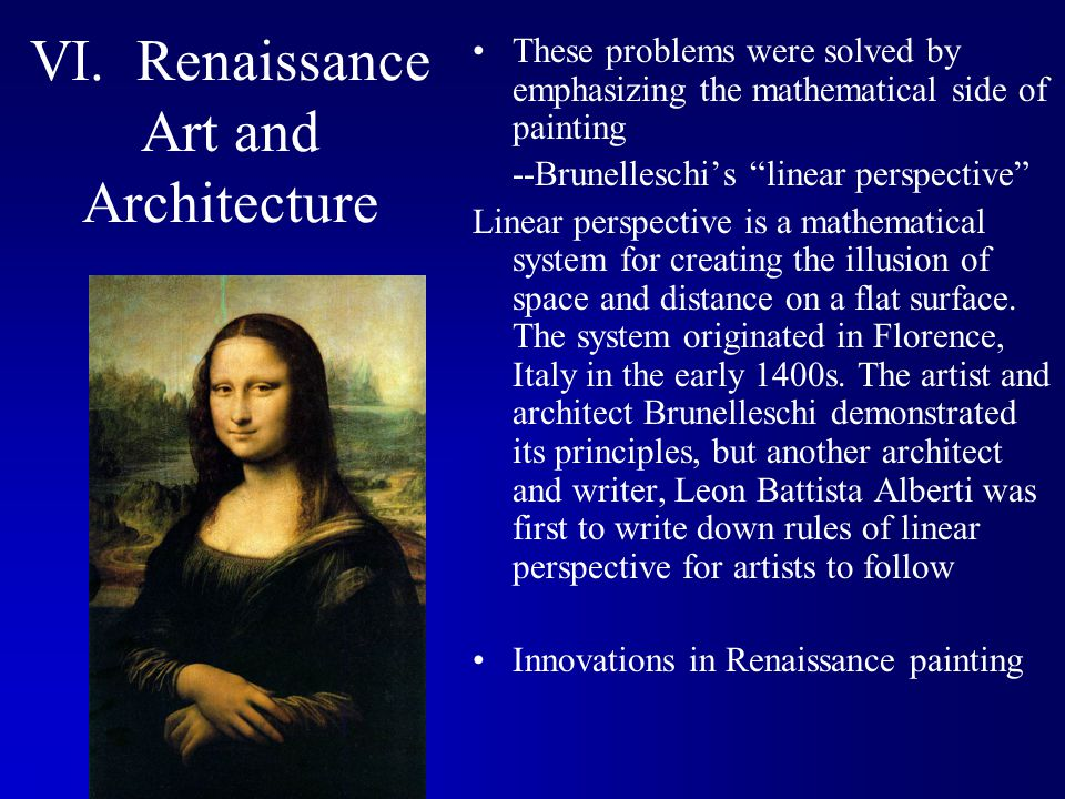 VI. Renaissance Art and Architecture