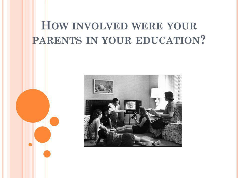 How involved were your parents in your education