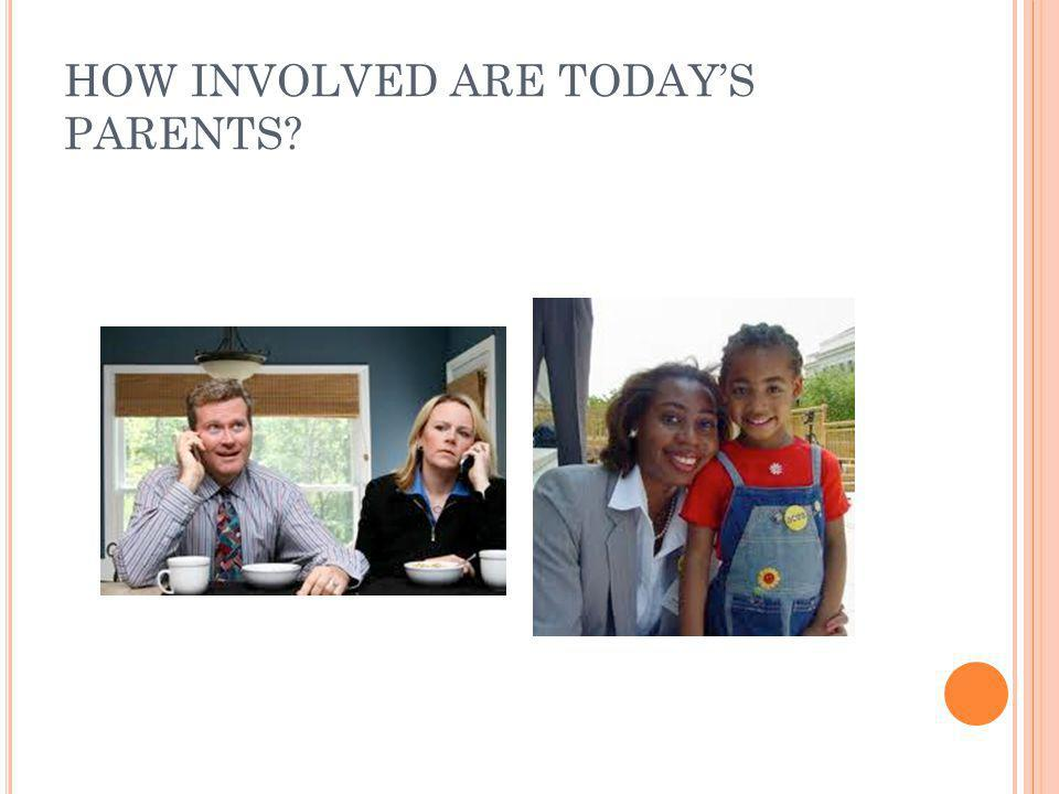 HOW INVOLVED ARE TODAY'S PARENTS