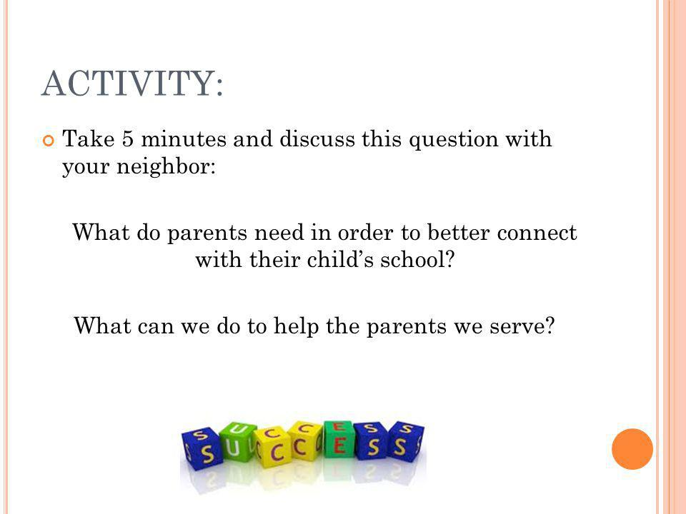 What can we do to help the parents we serve