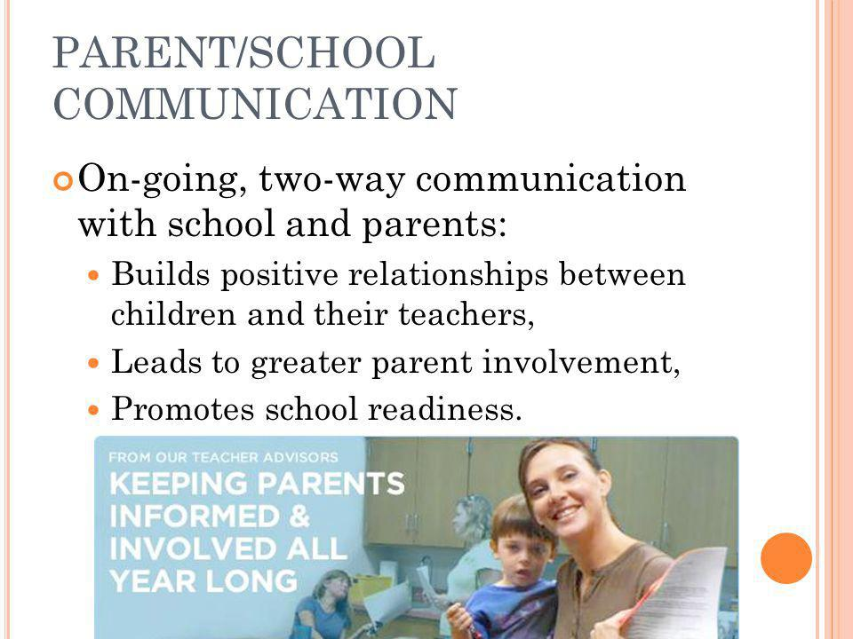 PARENT/SCHOOL COMMUNICATION