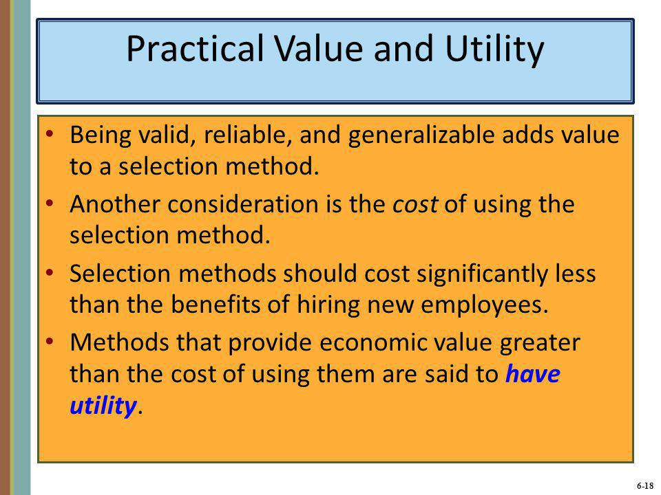 Practical Value and Utility