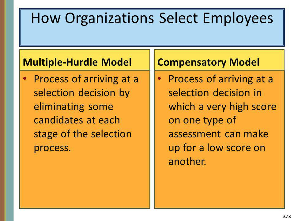 How Organizations Select Employees