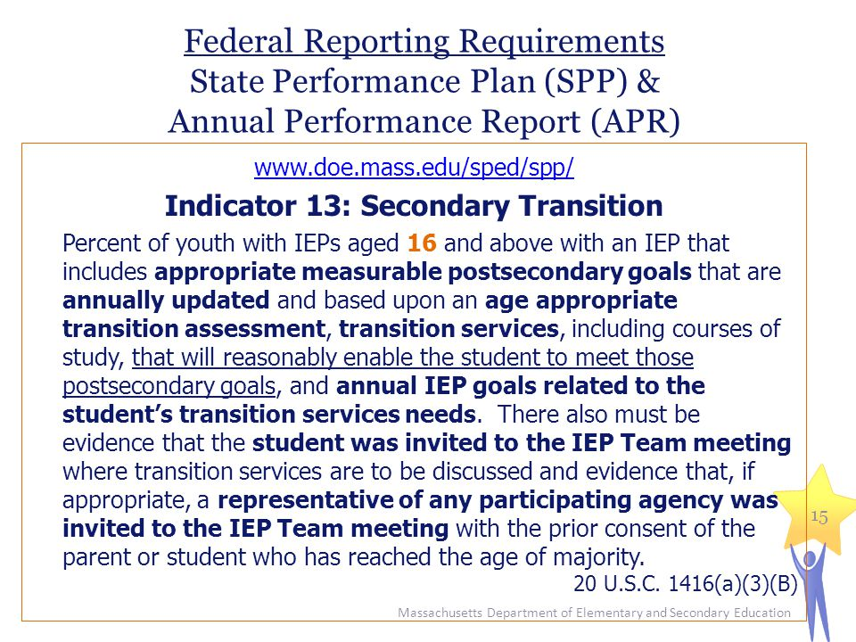 Indicator 13: Secondary Transition