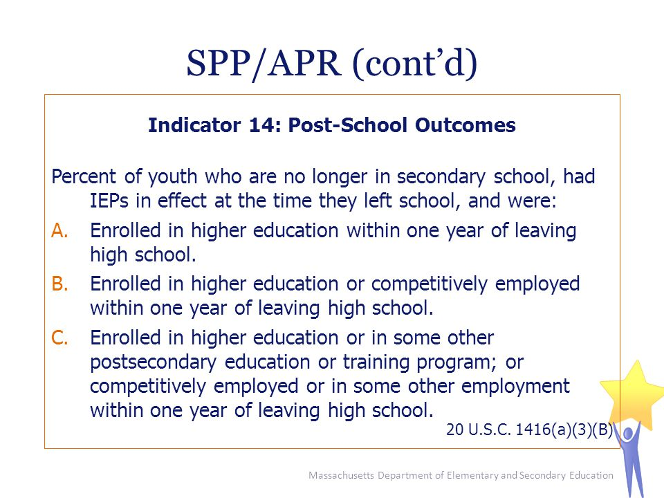 Indicator 14: Post-School Outcomes