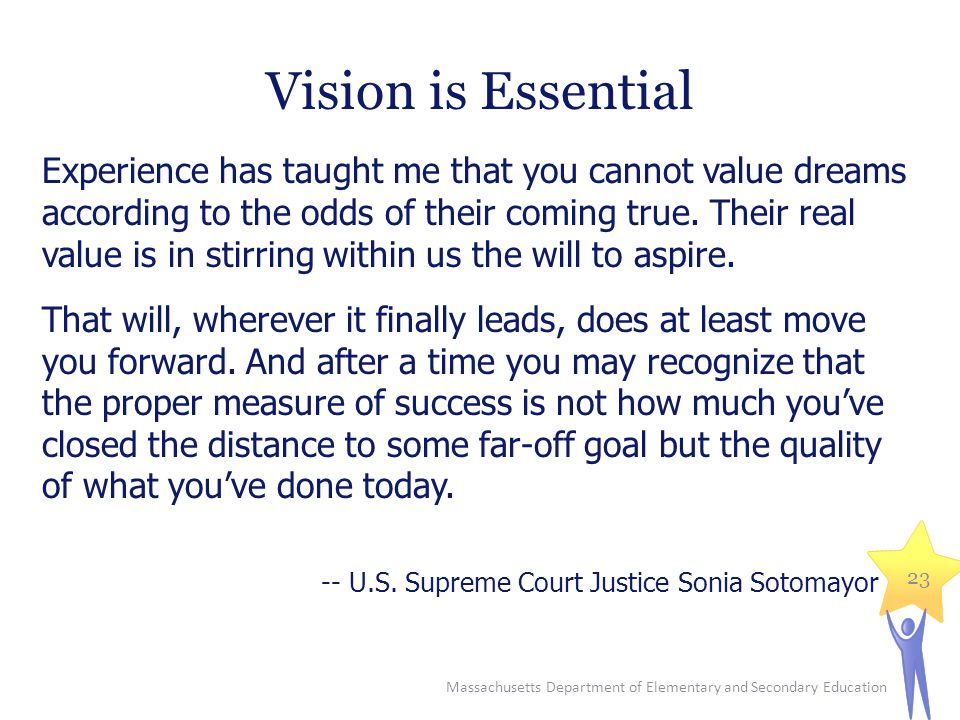 Vision is Essential