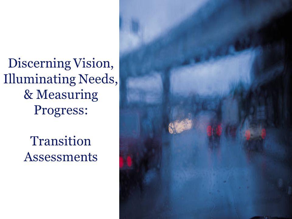 Discerning Vision, Illuminating Needs, & Measuring Progress: Transition Assessments