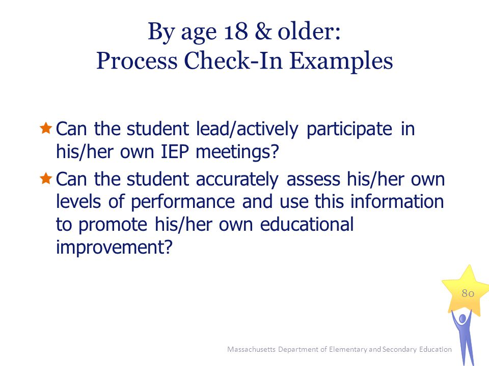 By age 18 & older: Process Check-In Examples