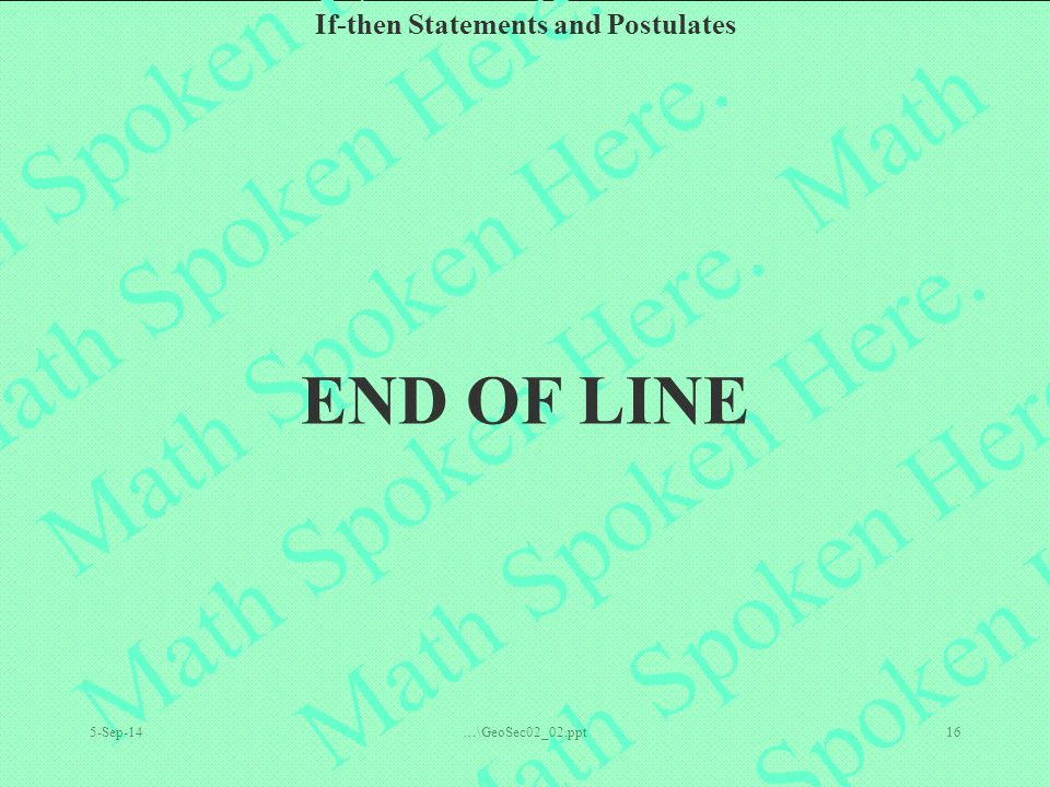 END OF LINE 6-Apr-17 …\GeoSec02_02.ppt