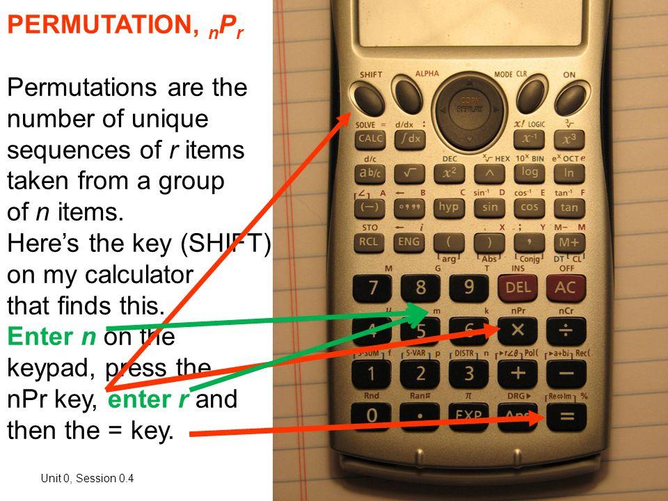 0.4 Useful Calculator Functions