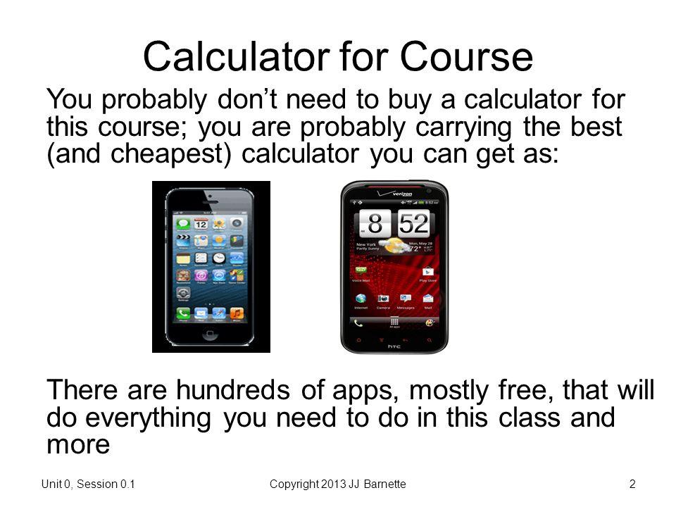 Calculator for Course
