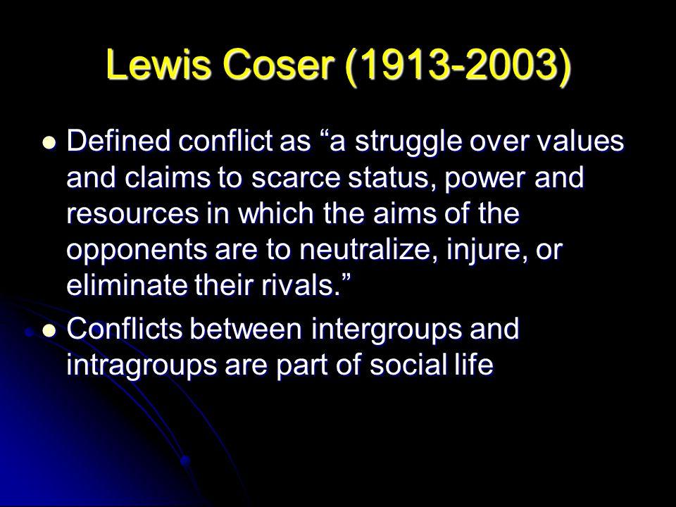 Lewis Coser (1913-2003)