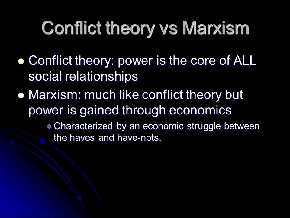 Conflict theory vs Marxism