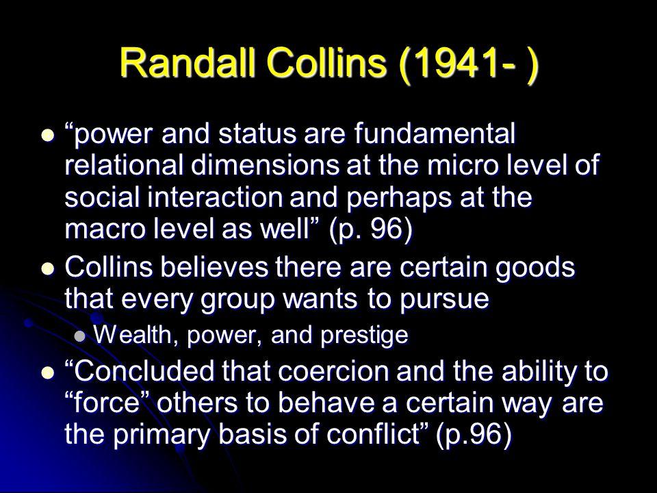 Randall Collins (1941- )