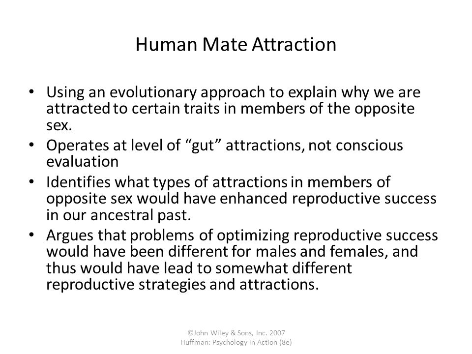 ©John Wiley & Sons, Inc. 2007 Huffman: Psychology in Action (8e)