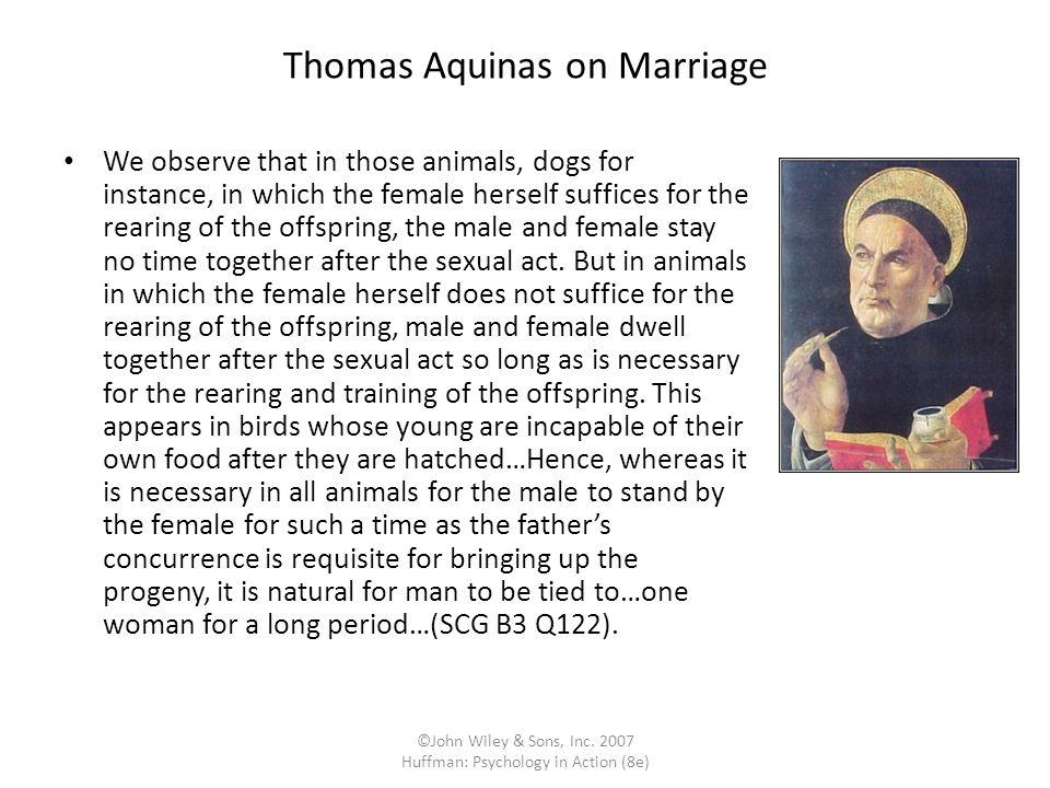 Thomas Aquinas on Marriage
