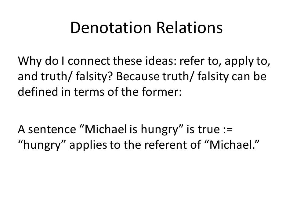 Denotation Relations
