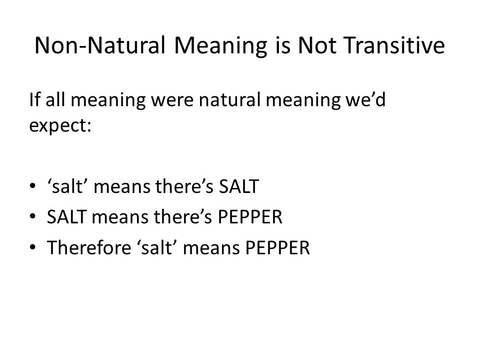 Non-Natural Meaning is Not Transitive