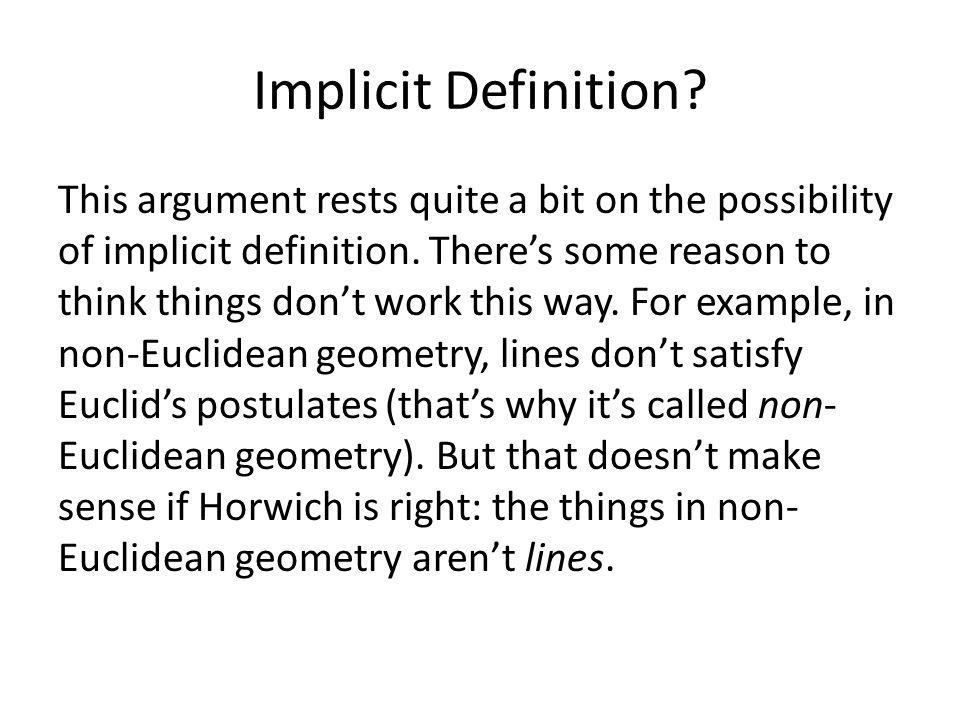 Implicit Definition