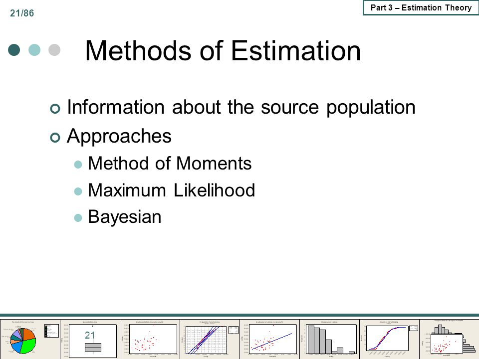Methods of Estimation Information about the source population
